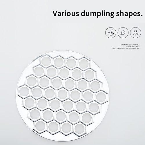Dumpling Mould 37 Holes Dumpling Mold Aluminum Alloy Wonton Ravioli Maker Mould Kitchen Accessory