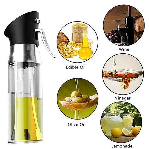 200ml Oil Sprayer Transparent Vigega Oil Spray Bottle Dispenser Kichen Tool Cooking Grilling Roasting Baking