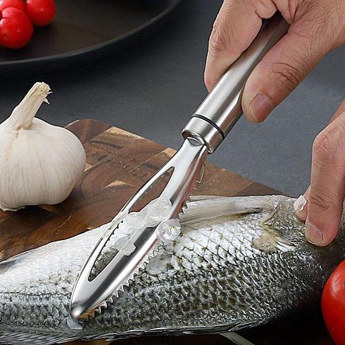 Kitchen Accessorie Fish Scales Scraping Graters Fast Remove Fish Cleaning Peeler Scraper Fish Bone Tweezers Tool Gadge