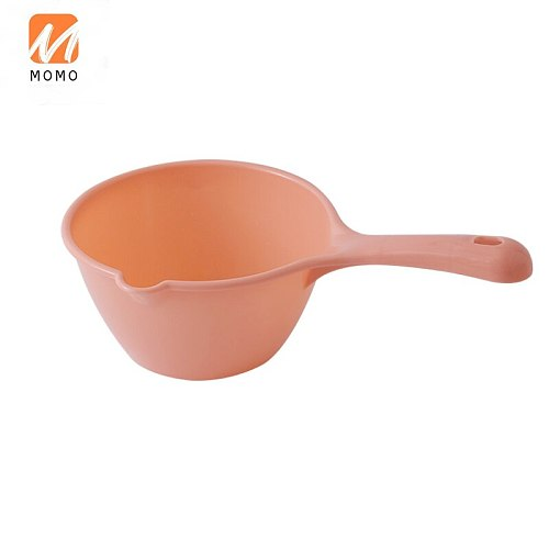 Household Long Handle Water Kitchen Thickened Plastic Water Ladle Children Bath Head Washing Cup Scoop