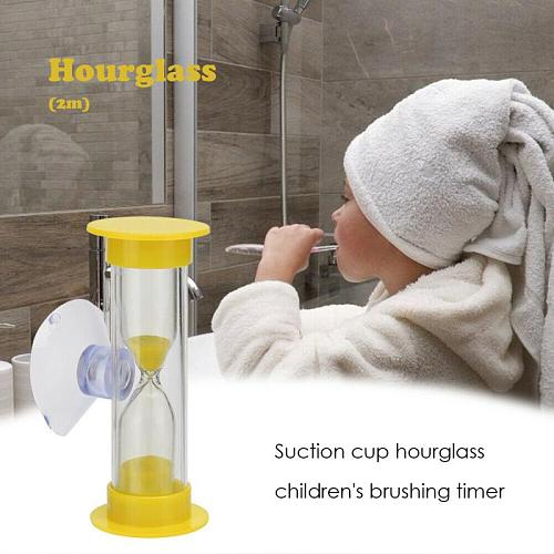 Kitchen Timers 2/3min Hourglasses Children Teeth Brushing Timer With Suction Cup Home Decor Kitchen Tools Cocina