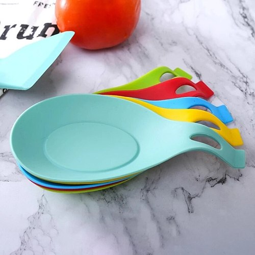 Soft Silicone Spoon Insulation Mat Silicone Heat Resistant Placemat Tray Spoon Pad Desk Mat Drink Glass Coaster Kitchen Tool2021