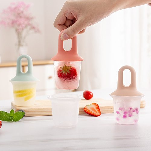 Silicone Ice Cream Molds Single Cell Ice Tray Food Safe Popsicle Maker DIY Homemade Freezer Ice Lolly Mould Kitchen Accessories