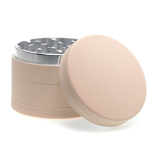Multifunctional crusher 63*47mm Rubber paint material smoke grinder  Solid color Herb Grinders Tobacco Weed Accessories