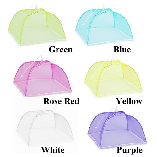 Eco-friendly Protector Pop Up Mesh Fly Wasp Net Food Cover Collapsible Umbrella Party BBQ Kitchen Specialty Tools