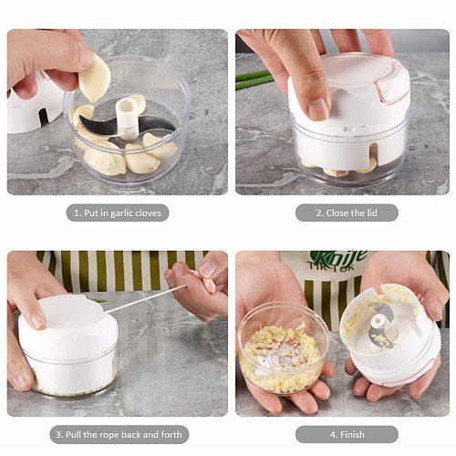 Kitchen Pulling Food Chopper Household Hand Manual Rope Processor Slicer Shredder Salad Maker Vegetable Tools