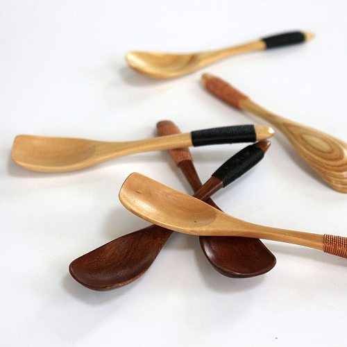 Wooden Spoon Bamboo Soup Teaspoon Catering Kids Spoon Kitchenware For Rice Soup Kitchen Cooking Utensil Tool 2021 New #J20