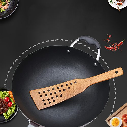 Pancake Turner Multifunctional Household Wooden Spatula Cooking Shovel Slotted Turner Kitchen Tools