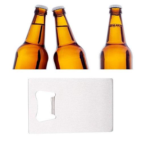 New Wallet Size Stainless Steel Credit Card Bottle Opener Business Card Beer Openers Universal Beer Bottle Opener