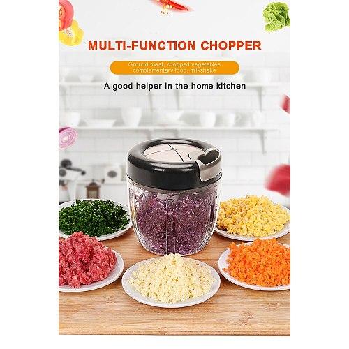 Manual Fruit Vegetable Chopper Hand Pull Food Cutter Onion Nuts Grinder Mincer Shredder Multifunctional Kitchen Accessories