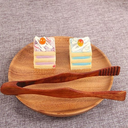 Food Tongs Wooden Nature High Quality Bread Buffet Barbecue Japanese Salad Snack Food Tongs Convenient Household Kitchen Tools