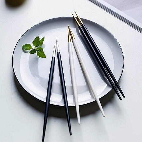 10 pairs Brand Hashi Japanese Chopsticks Stainless Steel Food Grade Food Chop sticks Sushi Dinnerware Korean Metal Chopsticks