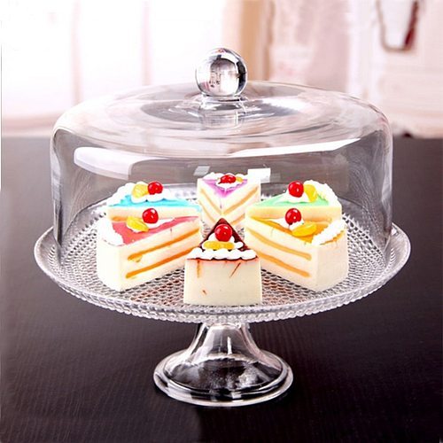 1:12 Miniature Multifunctional Cake Stand Server Clear Dollhouse Kitchen Utensils Accessories #1
