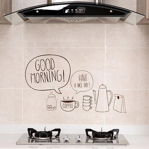 Transparent Self-adhesive Paper Kitchen High Temperature And Oil Resistant Wallpaper And Oil Proof Sticker High Temperature Cabi