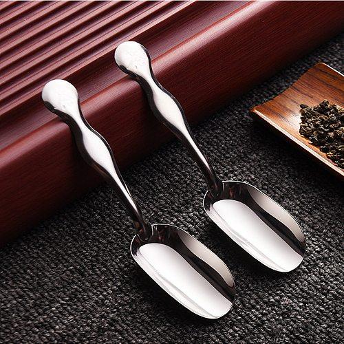1Pcs Creative Irregular Long Handle Shovel Metal Stainless Steel Tea Spoon Kitchen Hot Drinking Dessert Ice Scoop Coffee Spoon