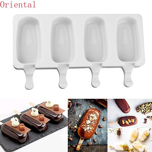 Home made Ice Cream Molds kitchen Silicone DIY Popsicle Mold Making Tool Juice Dessert With Popsicle Sticks Ice Cube Maker
