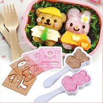 New Cute Panda Bear Rabbit Shape Sushi Maker Rice Ball Onigiri Mold Mould DIY Promotion