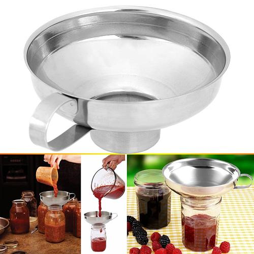 Stainless Steel Wide Mouth Canning Funnel Salad Dressing Funnel Oil Leak