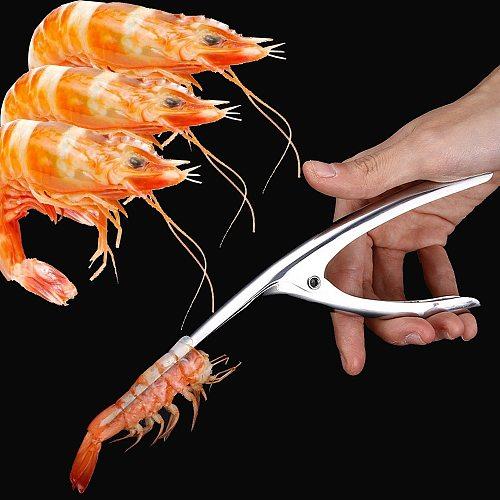 Stainless Steel Shrimp Peeler Prawn Fishing Knife Lobster Sheller Peeler Kitchen Seafood Tool