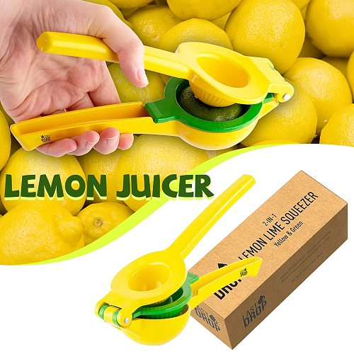 2 In 1 Aluminium Alloy Manual Premium Quality Juicer Lemon Squeezer Citrus Juicer Press Juicer Kitchen Tool Squeeze Station