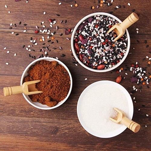 3pcs Wooden Spoon For Bath Salt Mini Wood Herb Powder Rice Spice Sugar Flour Tea Scoops Antique Kitchen Cooking Baking Tool Home