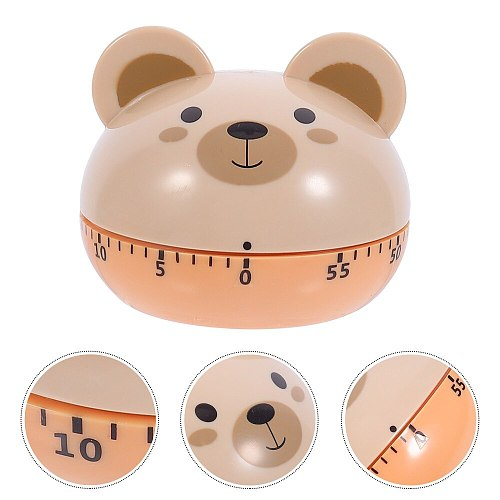 1Pc Cartoon Bear Timer Creative Timer Reminder Kitchen Gadget Supply Khaki