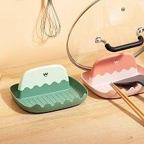 Pot-lid Rack Sitting Kitchen Tools Countertop Drain Tray Household Pot-lid Cutting Board Storage Rack Spatula Soup Spoon Rack