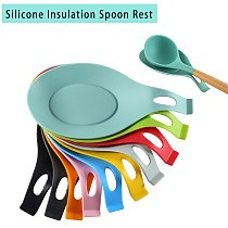 1PC Silicone Shelf Insulation Spoon Rest Heat Resistant Placemat Spoon Pad Mat Pot Utensil Holder Kitchen Accessories