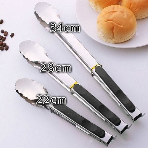 kitchen accessories Stainless Steel BBQ kitchen tools Salad Bread Serving Tong Non-Stick Kitchen Barbecue Grilling Cooking Tong