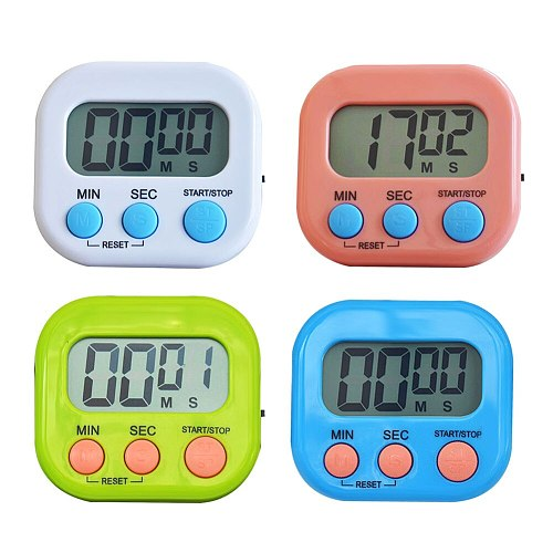 Timer LCD Digital Sleep Stopwatch Kitchen Countdown Cooking Alarm Reminder Clock Kitchen Accessories Gadgets