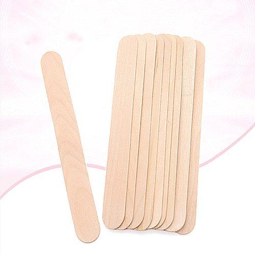 10PCS  Wooden Spatula Tongue Depressor Disposable Bamboo Tattoo Wax Medical Body Hair Removal Stick Tongue Depressor