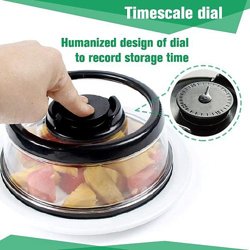 Vacuum Food Sealer Cover Kitchen Instant Vacuum Food Sealer Fresh Cover Refrigerator Dish Covers Topper Dome Kitchen Tool#35