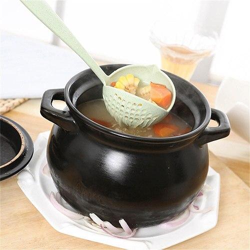 Oval Skimmer Filter Soup Pot Food Filter Cookware Colander Plastic Tableware Tea Filter Kitchen Strainer Baking Cooking Tools