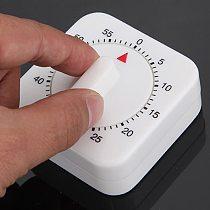 60 Minutes Kitchen Timer With Alarm Plastic Adjustable Mechanical Egg Timer For Cooking Baking Chef Reminder Minuteur Cuisine