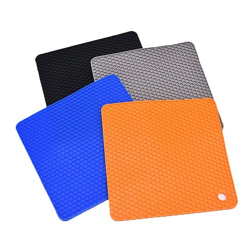 Hot Sale Pot Holders And Silicone Trivet Mats Non-slip Resistant Silicone Insulation Pad Heat Resistant Hot Pads 18*18cm
