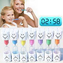 HOT 1Pc Hourglass Children Kids Toothbrush Timer 3-Minute Smile Sandglass Tooth Brushing Hourglass Shower Sand Time Clock
