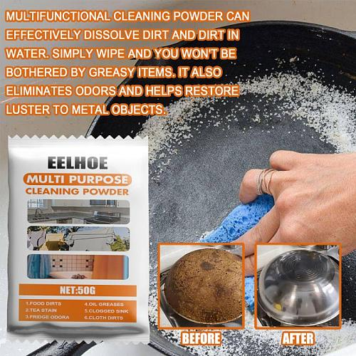 Multifunctional Cleaning Powder All-Purpose Cleaner Kitchen Burnt Stains Remover Utensils Cleaning Household Cleaning Chemicals