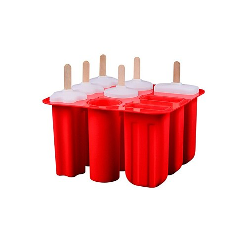 9 Holes Silicone Ice Popsicle Mold with 9pcs Lids Ice Cream Maker with 12pcs Sticks DIY Ice Lolly Moulds