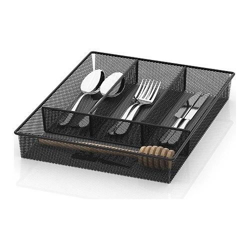 Cutlery Organizer Storage Drawer Knives Fork Spoons Tray Storage Separation Rack Holder Cabinet Kitchen