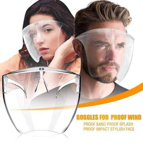 2021 Hygiene Safety Face Shield Plastic Visor Protective Anti-Fog Anti-Splash Transparent Food Face Shield For Mouth Nose