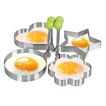 Creative Four Shapes Stainless Steel Fried Egg Maker Pancake Mold Home DIY Breakfast Egg Sandwich Kitchen Baking Utensil Tools
