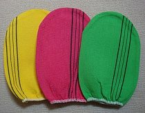 Free shipping 5 pcs/lot italy towel korea glove viscose scrub mitt body scrub glove kessa mitt exfoliating tan glove (normal)