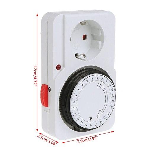24H Mechanical Electrical EU Plug Program Timer Power Switch Socket Energy Saver My06 21 Dropshipping