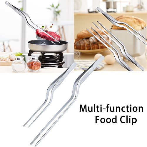 Chef Tongs Clips Stainless Steel BBQ Tong Mini Tweezer Multi Hand Tools For Picnic Picking Food Meat Bread Kitchen Gadget Tool