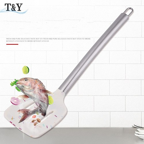 T&Y 9pcs New Colorful Non-Stick Silicone Utensil Cooking Set with Stainless Steel Handle, Ladle Scraper Spatula Turner Tools