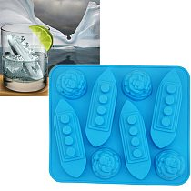 Silicone Ice Cube Trays Carving Mold Mould Titanic Shaped For Party Drinks Moldes De Silicon Para Helados
