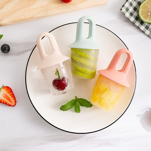 Hot sale Mini Ice Pops Mold Ice Cream Ball Lolly Maker Popsicle Molds Baby DIY Food Supplement Tool Fruit Shake Ice Cream Mold