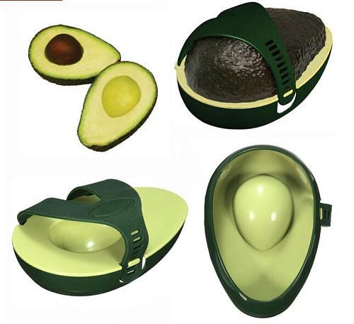 Kitchen Gadget Avocado Saver AVO Keeper Storage Container Box Hugger Fruit Tool
