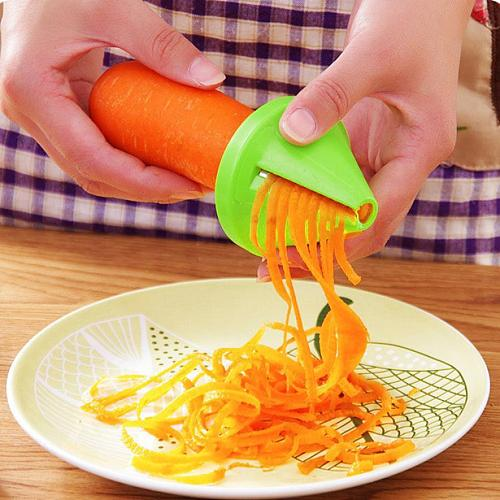 Free Shipping  Kitchen Funnel Model Spiral Slicer Vegetable Shred Carrot Radish Cutter Hot Sale Model Spiral Slicer 40p