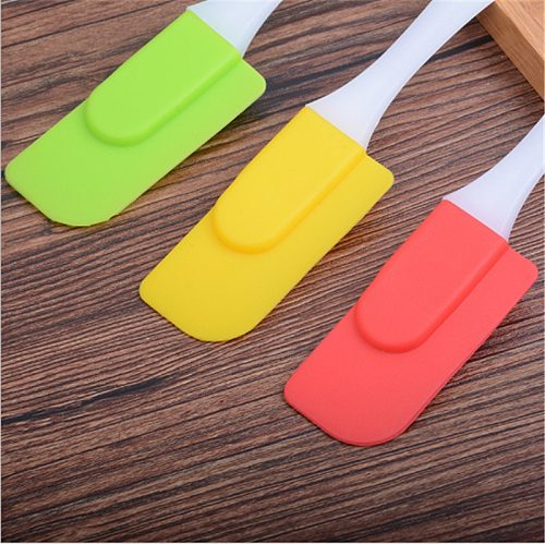 1Pcs Pastry Tools Silicone Spatula Baking Scraper Cream Butter Handled Cake Spatula Cooking Cake Brushes Kitchen Utensi